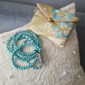 Honora Stretch Bracelets Set of 6 Mint Ringed Fre